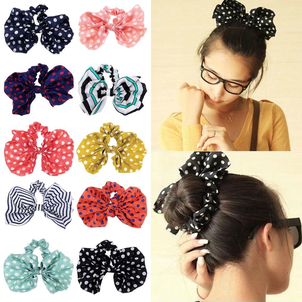 Incredible Korean Cute Kawaii Big Rabbit Ear Bow Headband Ponytail Holder Hairstyles For Women Draintrainus