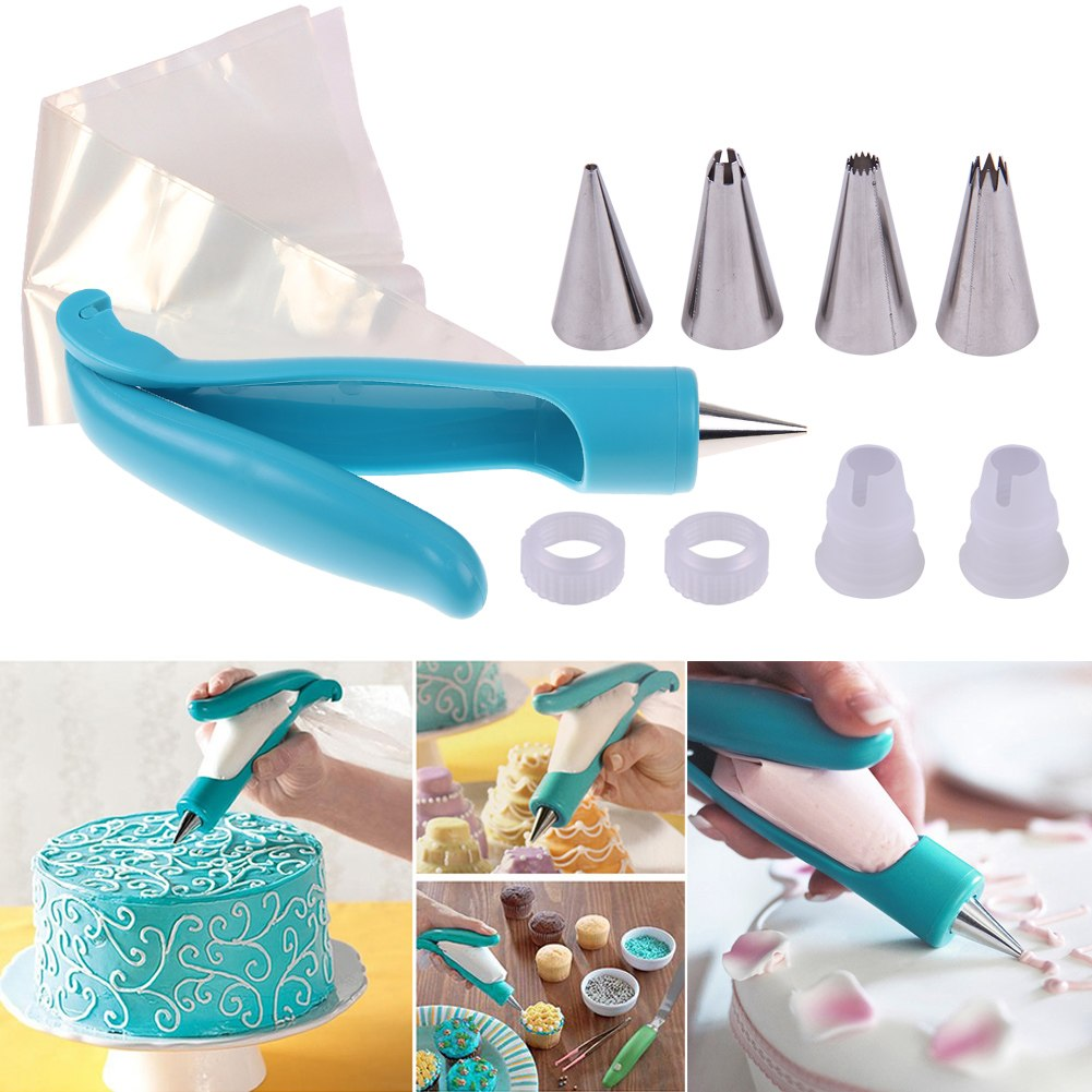 pastry icing piping bag nozzle fondant cake cupcake decorating pen set
