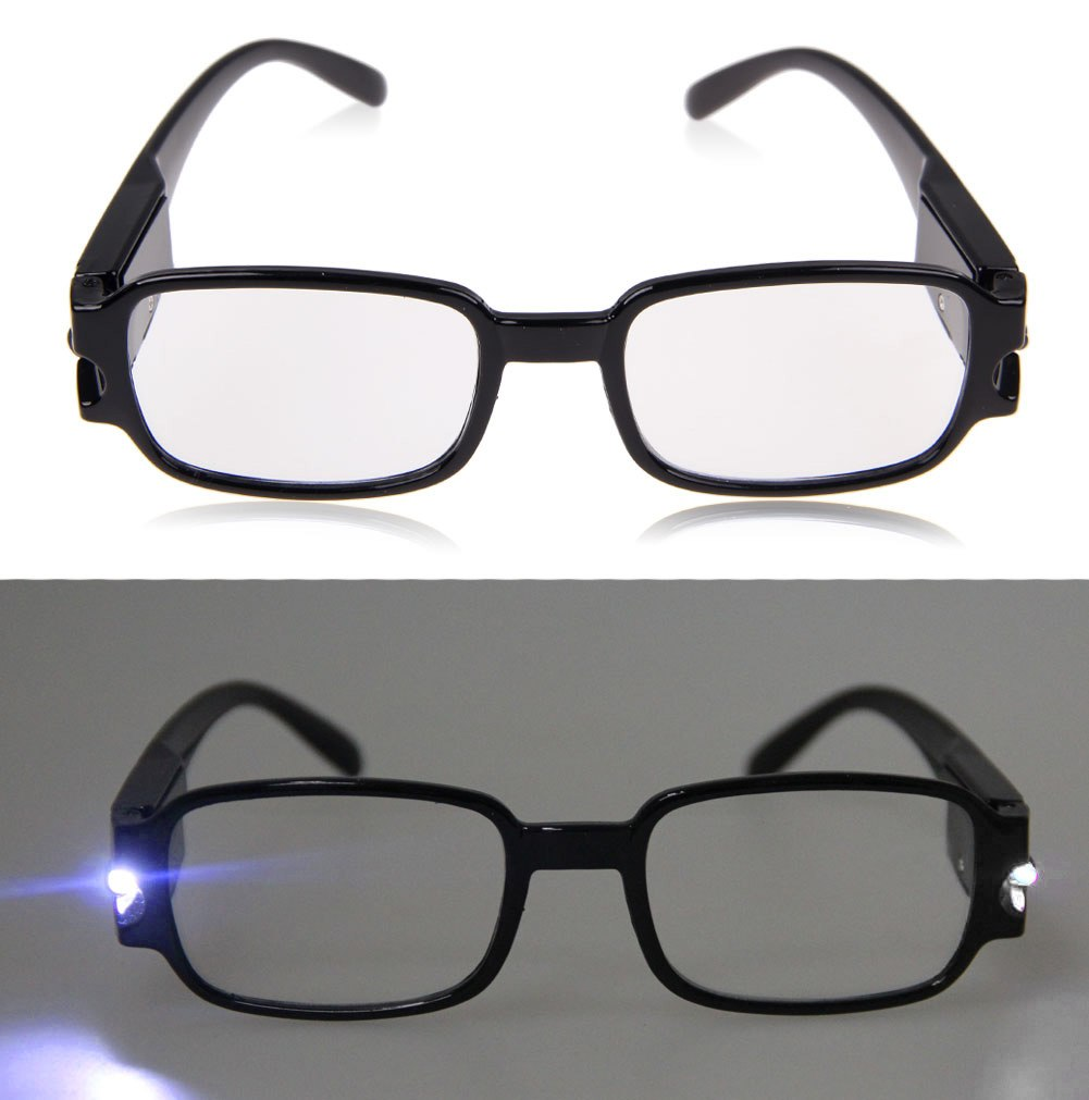 led reading glasses eyeglasses spectacle diopter magnifier
