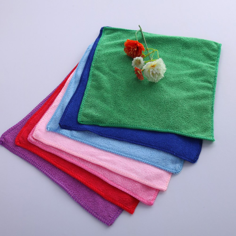 Microfiber Cleaning Cloth Pattern: 10pcs Square Microfiber Polishing Scrubing Car Cleaning
