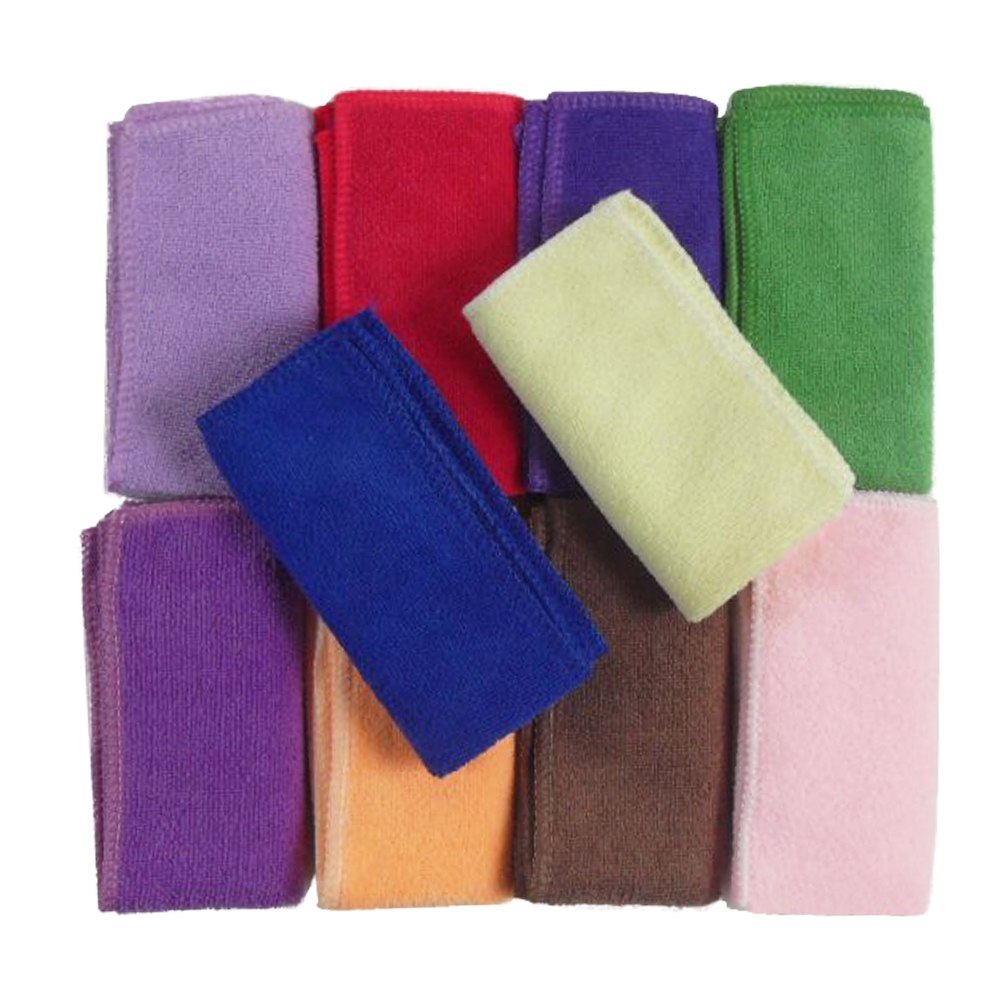 10pcs serviette microfibre chiffon nettoyage voiture lavage towel 23x23 ebay. Black Bedroom Furniture Sets. Home Design Ideas