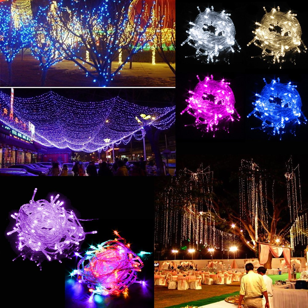 Led String Lights For Christmas Trees : 10M 100 LED Bulbs Christmas Tree Fairy Party String Lights Waterproof Xmas Decor eBay