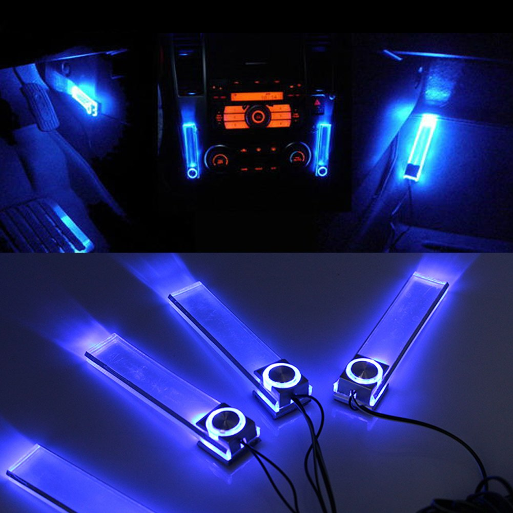 12v 4 in 1 car charge led interior decorative light lamp colors decoration floor ebay. Black Bedroom Furniture Sets. Home Design Ideas