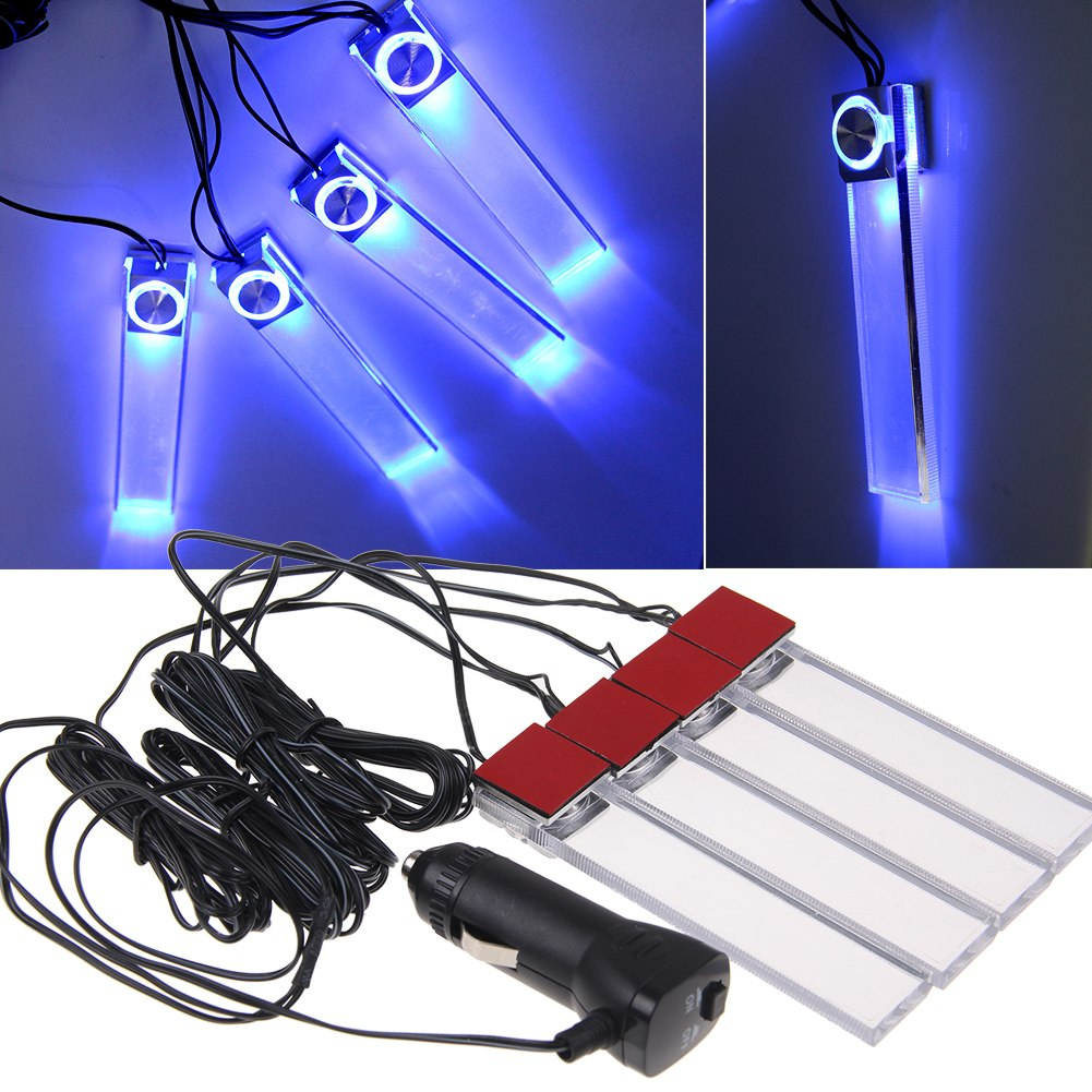 Car auto interior accessory dash floor blue led atmosphere light decoration lamp ebay for Led car interior lights ebay