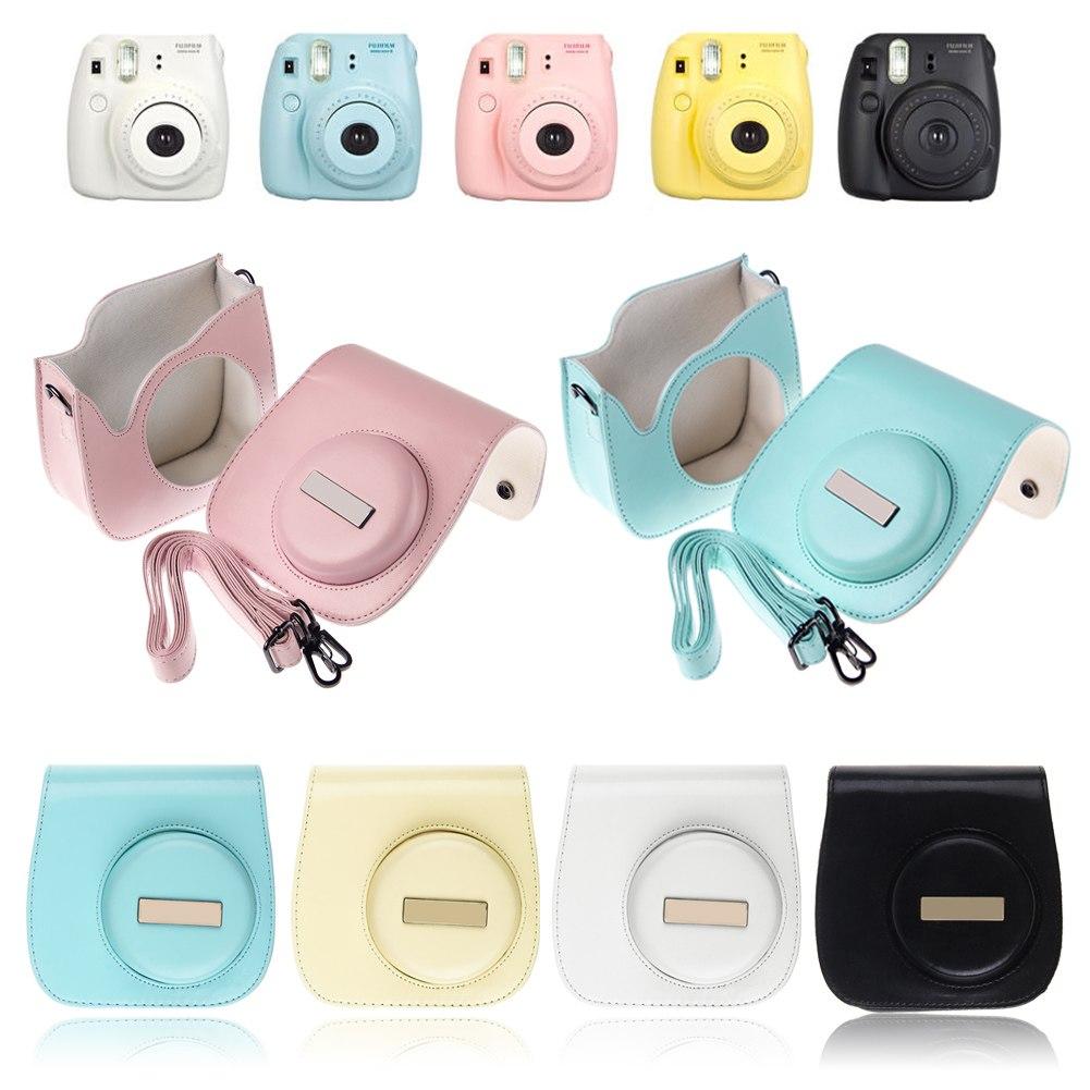 Camera leather case shoulder bag cover for fujifilm fuji for Instax mini 8 housse