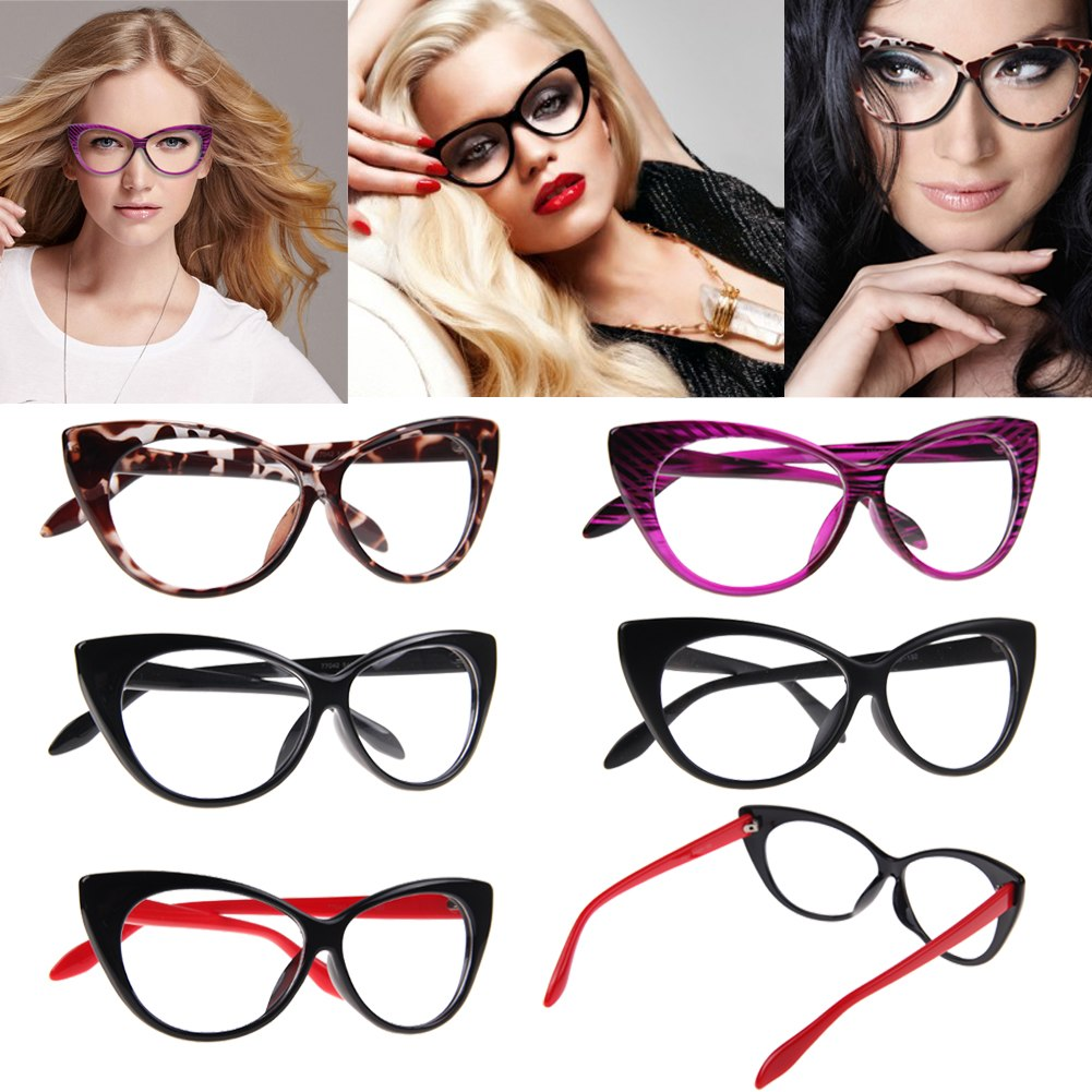 Cat Eye Frame Glasses Philippines : Luxury New 50s/60s Style Clear Lens Cat Eye Sunglasses ...