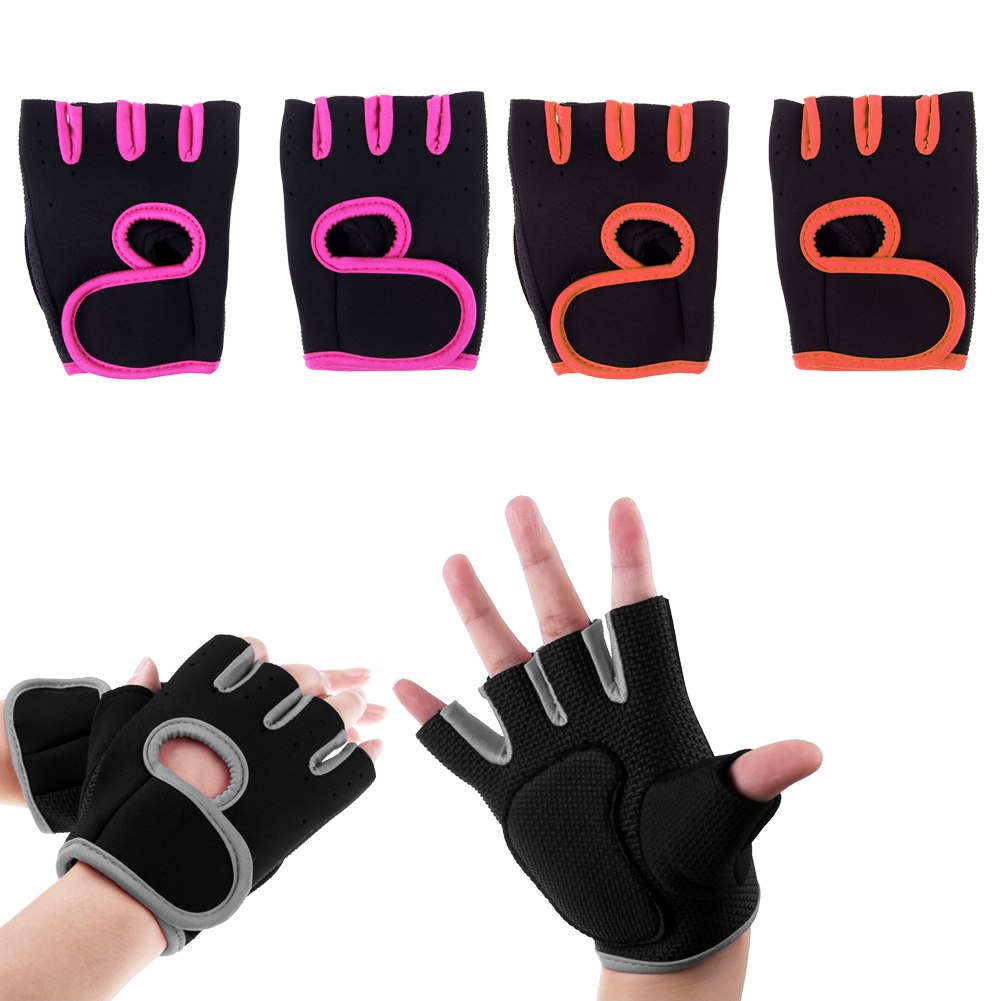 New Gym Weight Lifting Gloves Health Fitness Dumbbell Half
