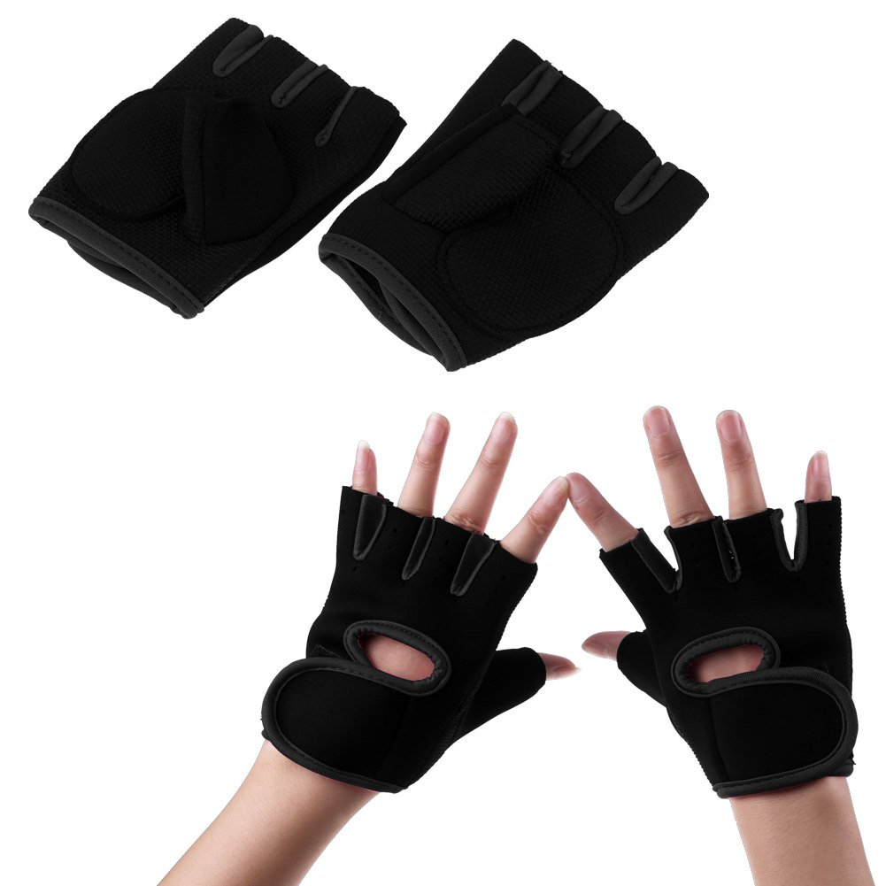 Hompo Ladies Gloves Bodybuilding Fitness Weight Lifting: Gym Training Fitness Mitts Ladies Gloves Sport Weight