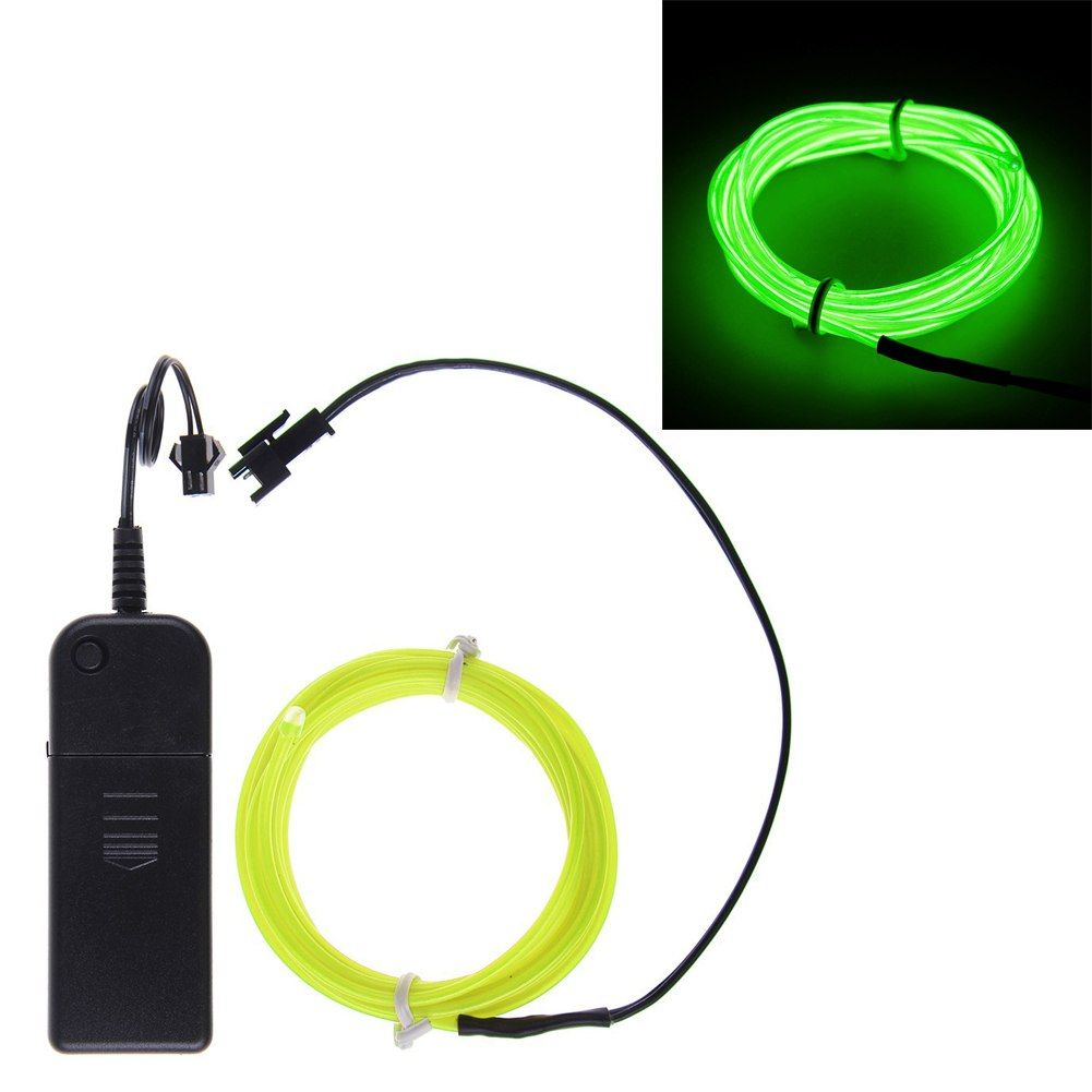 Neon light glow el wire strip rope tube car bar dance