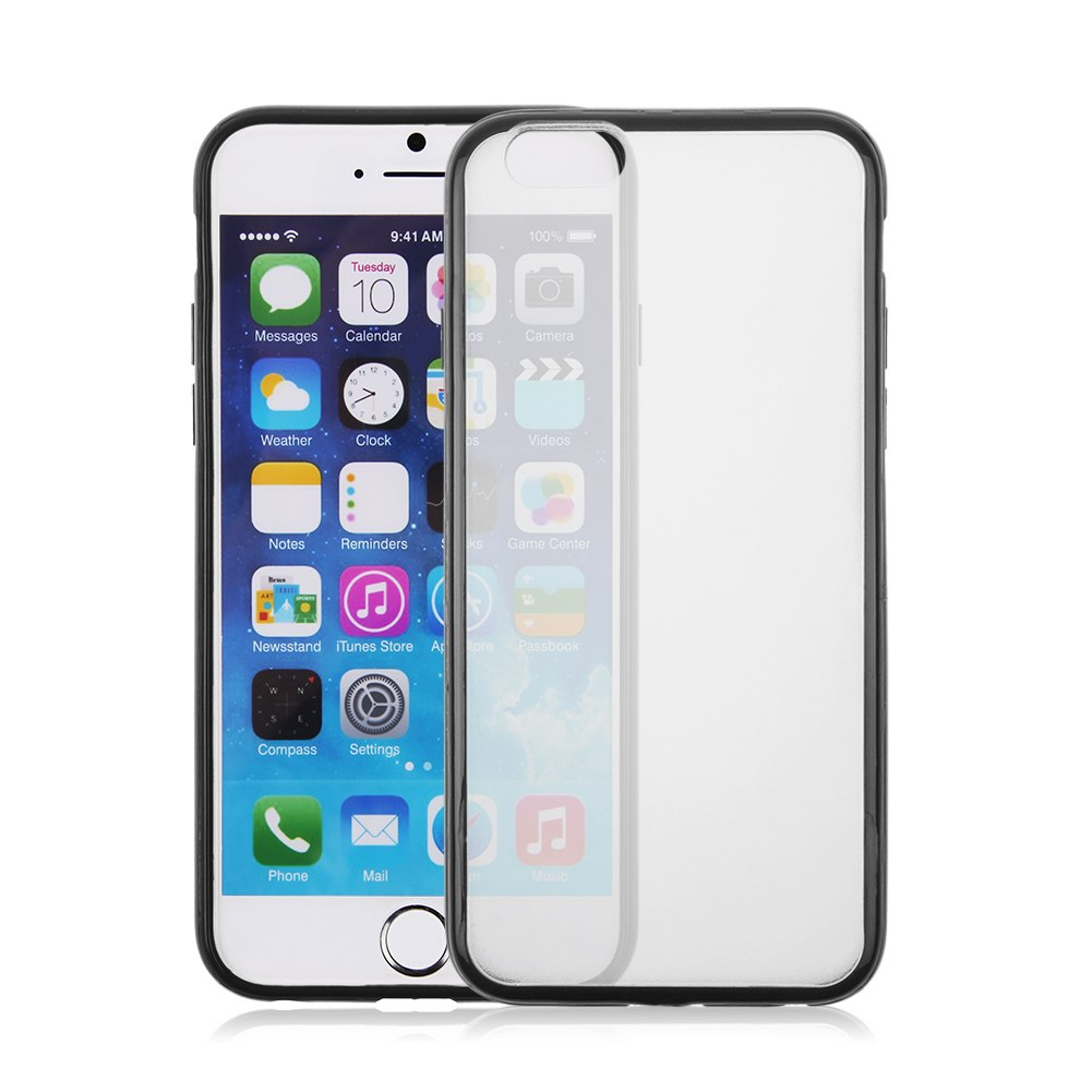 Tpu bumper frame etui housse coque case transparent pour for Etui housse iphone 4