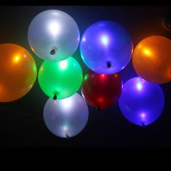 50 leuchtende led luftballons geburtstag hochzeit party deko club licht ballon ebay. Black Bedroom Furniture Sets. Home Design Ideas