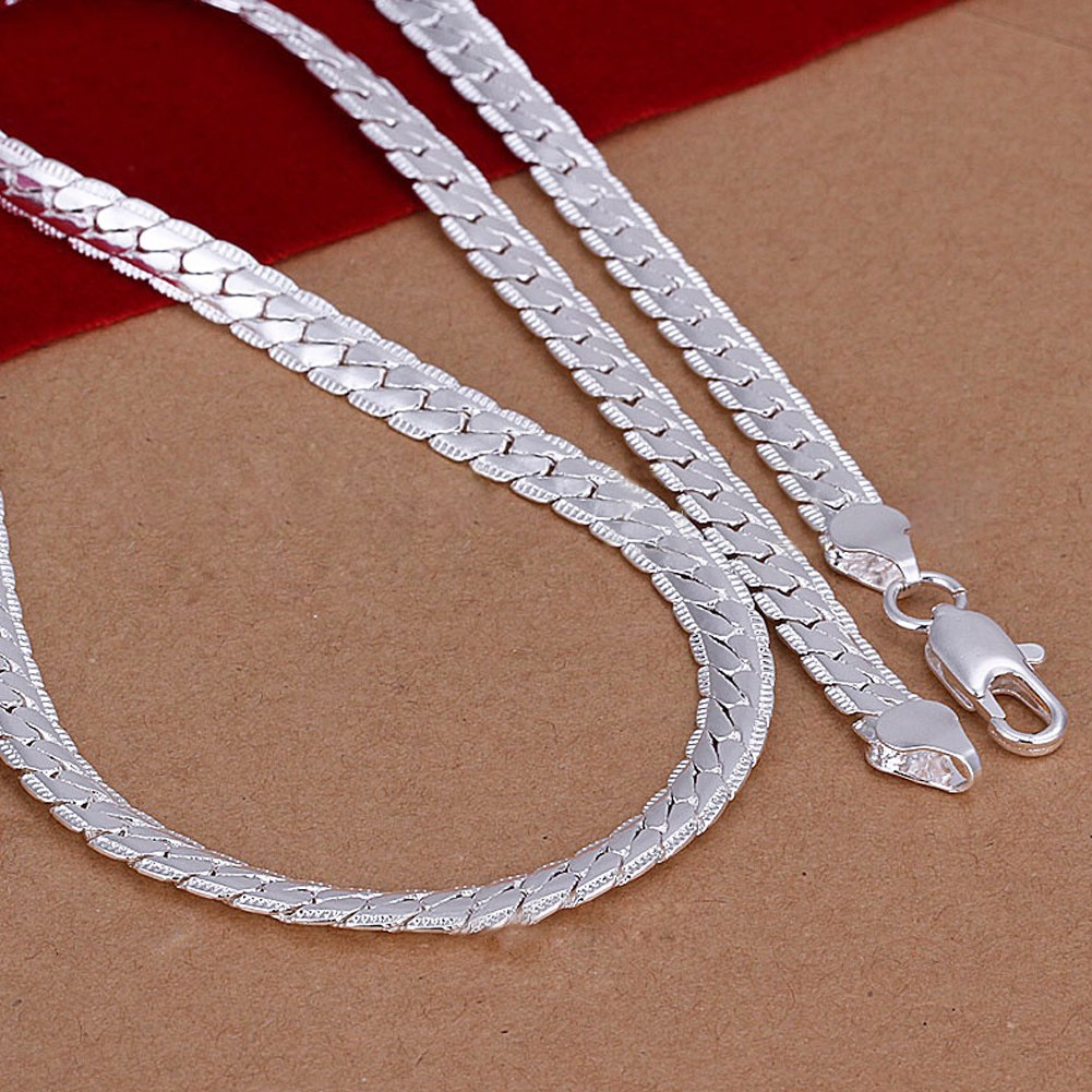 5mm 925 solid sterling silver necklace chain 20quot inch