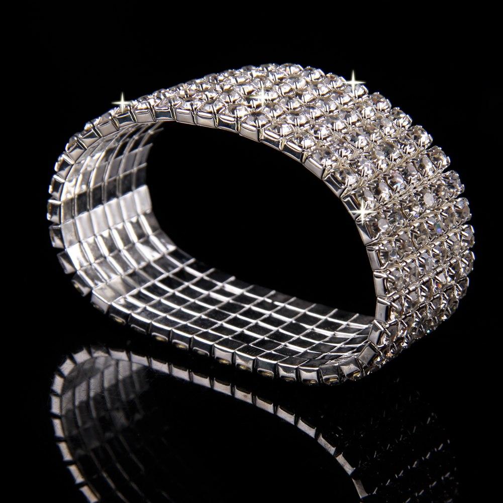 Clear Pretty Party Wedding Bridal Crystal Diamante Rhinestone