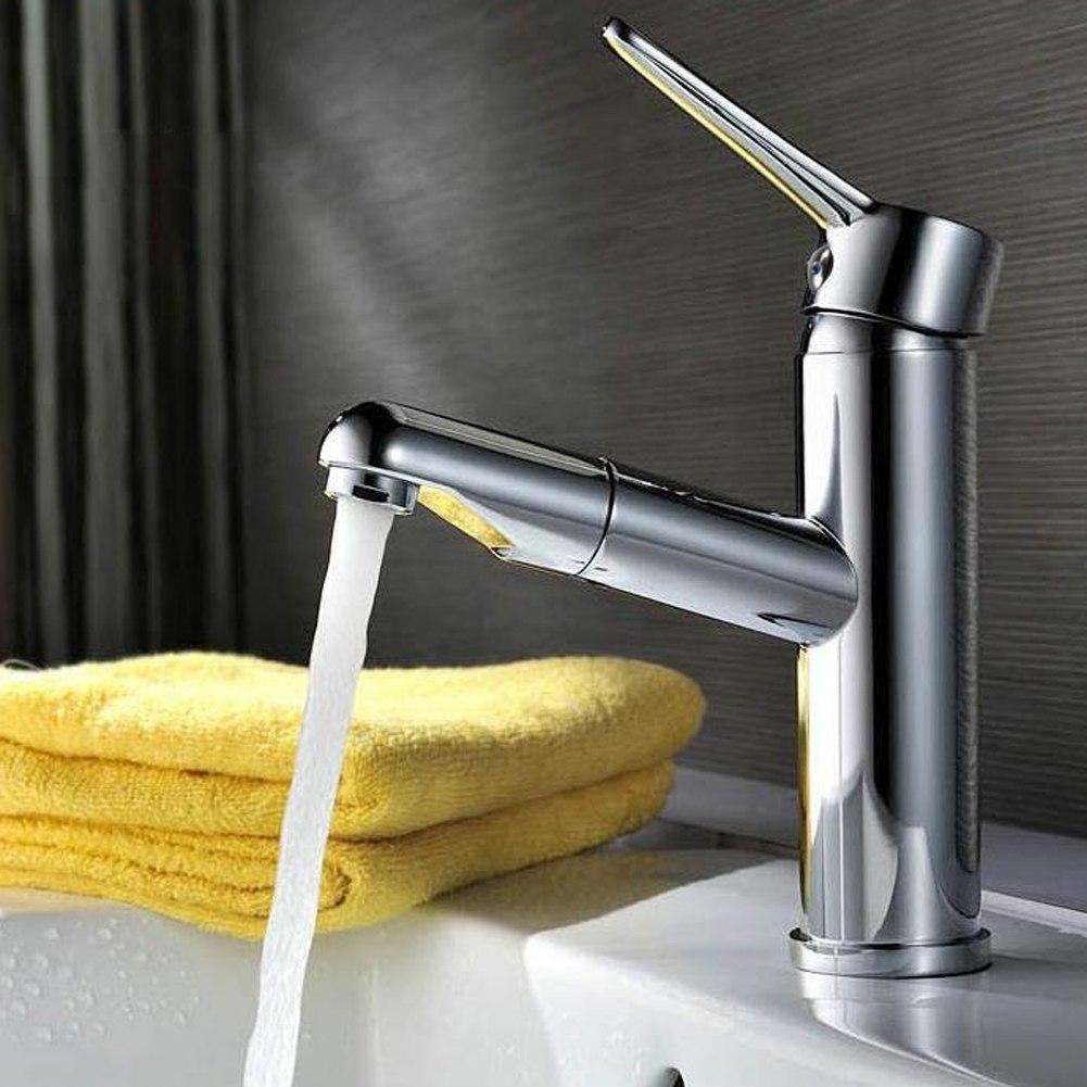 ausziehbare waschtisch armatur wasserhahn wasserkran einhandmischer k che bad ebay. Black Bedroom Furniture Sets. Home Design Ideas