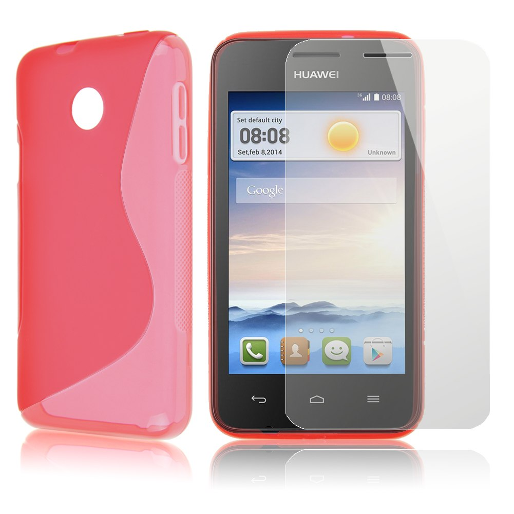 Wave Soft Slim TPU Gel Silicone Skin Case Cover For HuaWei Ascend Y330 for gift