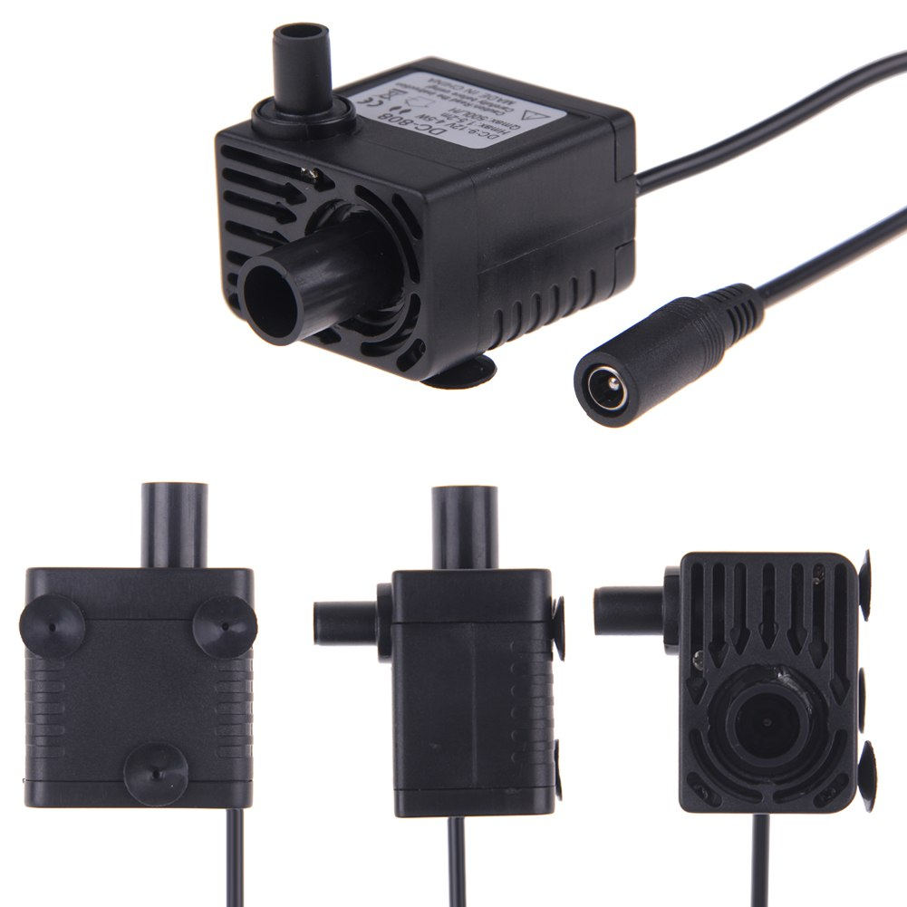 Newest hot ultra quiet mini dc 12v 500l h brushless motor for Waterproof submersible electric motors