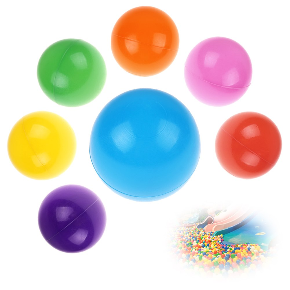 100pcs Kids Baby Colorful Soft Play Balls Toy for Ball Pit Swim Pit Ball Pool eBay