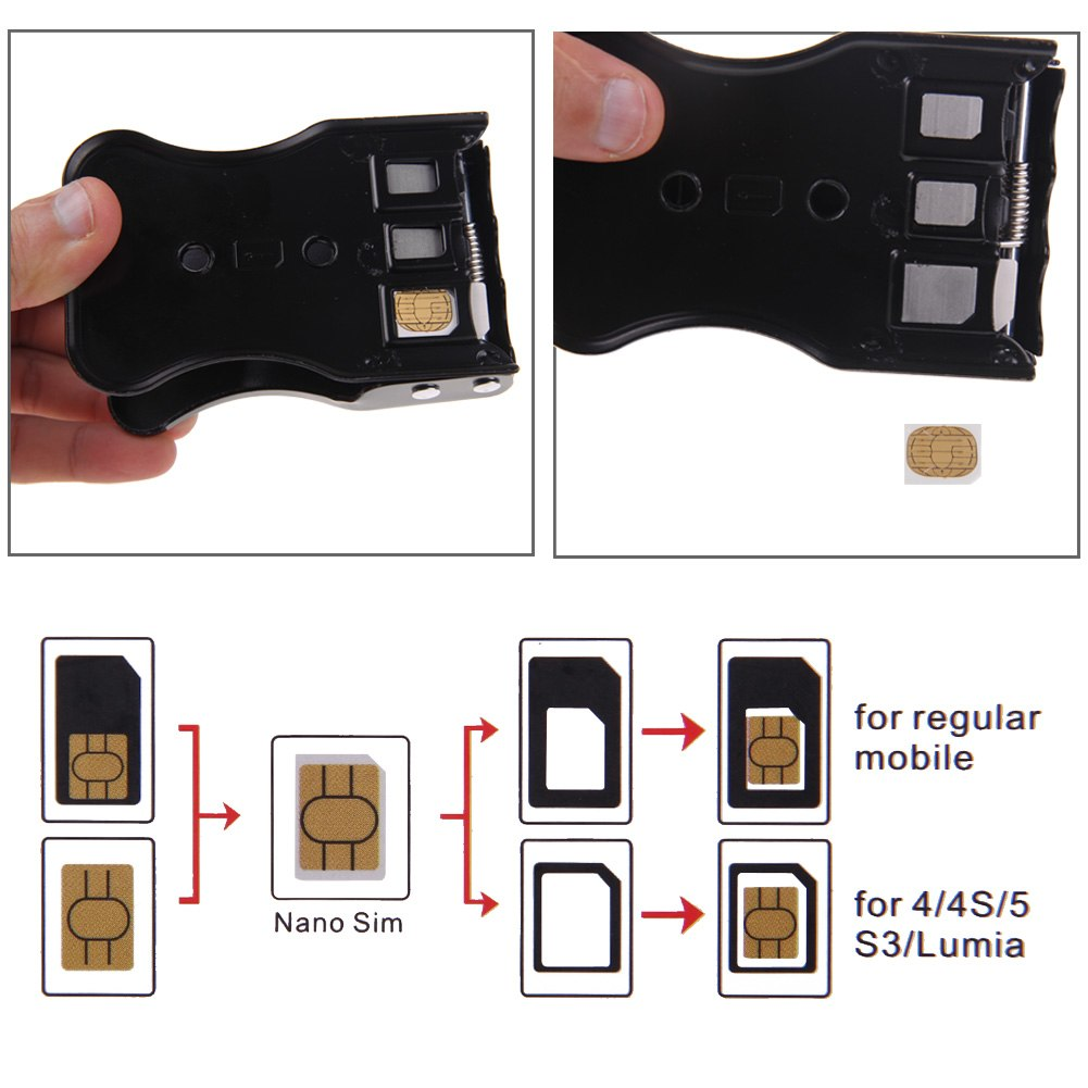 iphone 4 sim card slot size