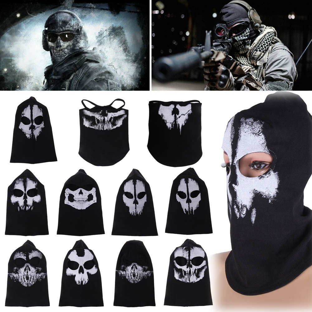 Call of Duty 10 Ghost Balaclava Motorcycle Cycling Game Airsoft ...