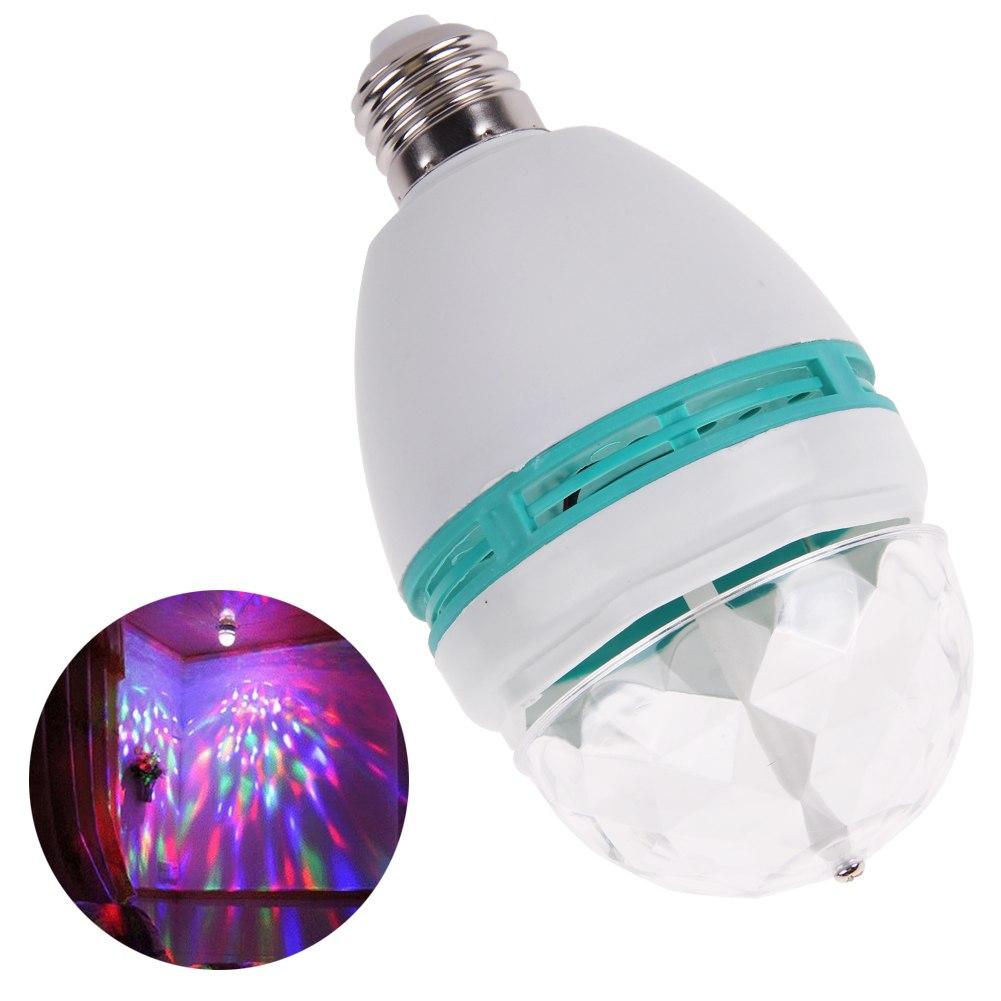 E27 3W RGB LED Kugel Strahler Leuchte Lampe Bühne Lichteffekt für DJ ...