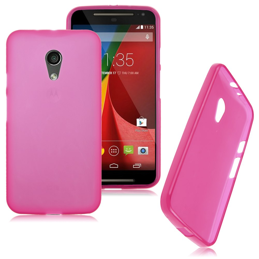 For Motorola Moto G 2nd Gen 2014 Soft Gel TPU Back Case Cover Matte Skin Shell