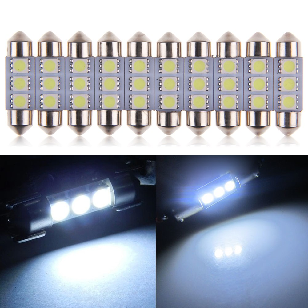 10 x feston 36mm 3w 3 smd 5050 led lumi re blanc ampoule plaque de voiture ebay. Black Bedroom Furniture Sets. Home Design Ideas
