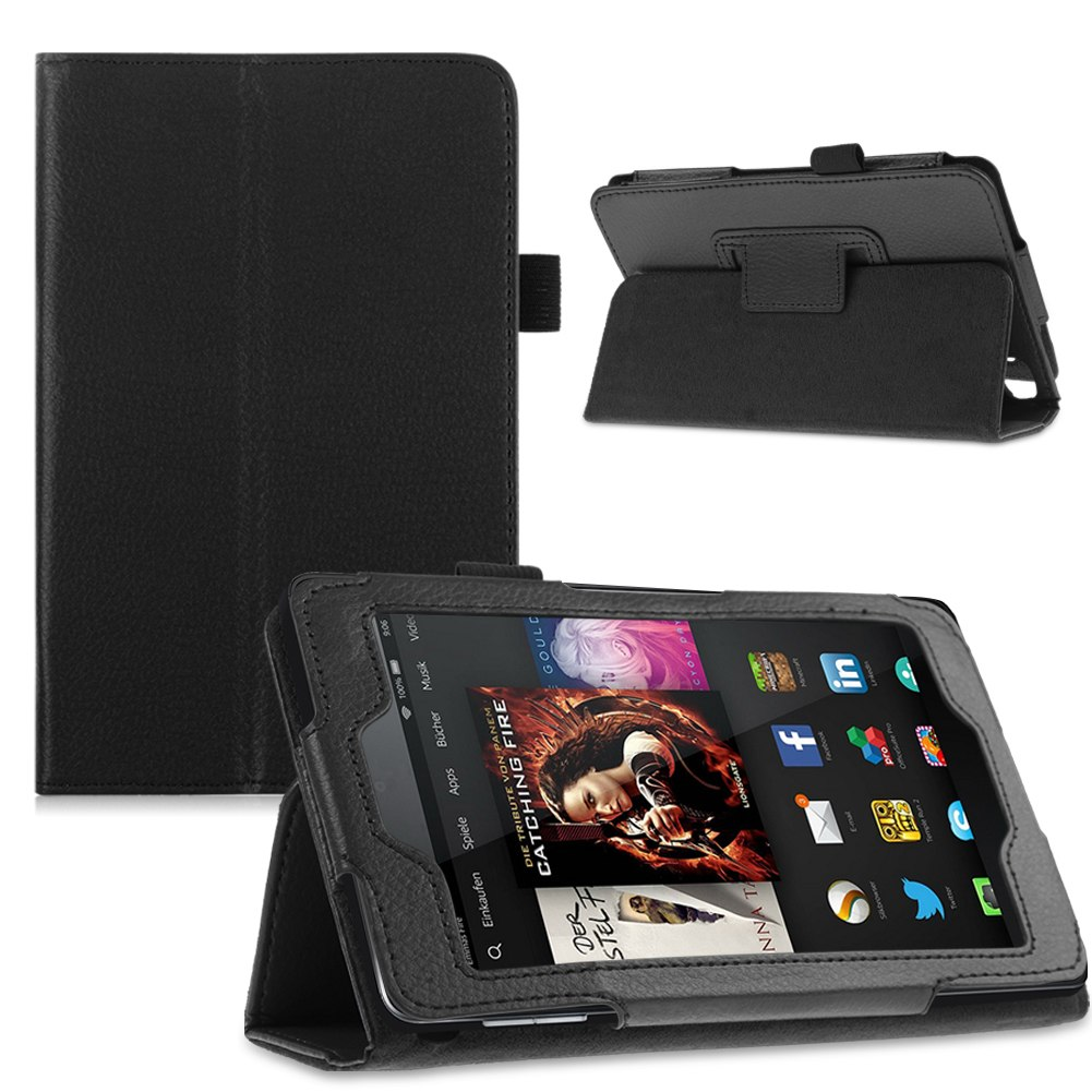 For 2014 Amazon Kindle Fire HD 6 7 Tablet Folio PU Leather ...