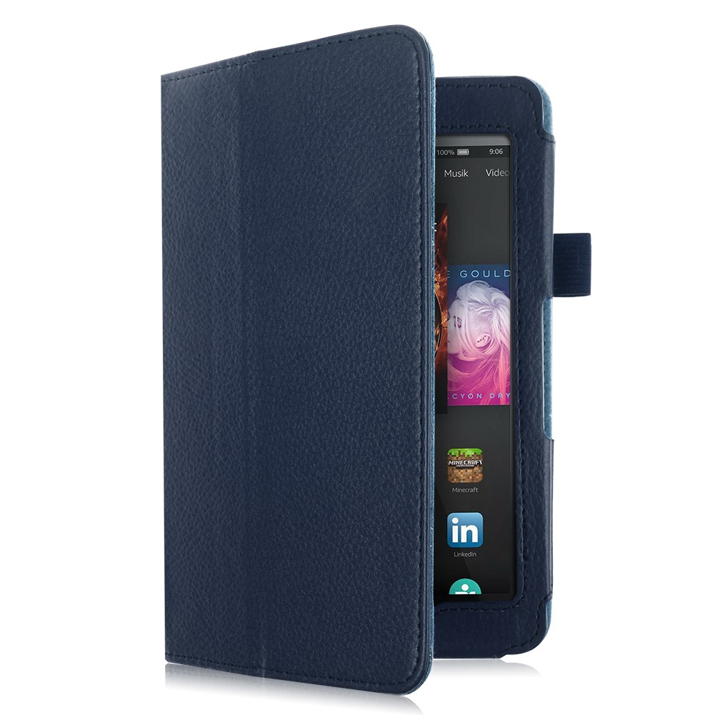 Folio Leather Stand Case Cover Skin For 2014 Amazon Kindle ...