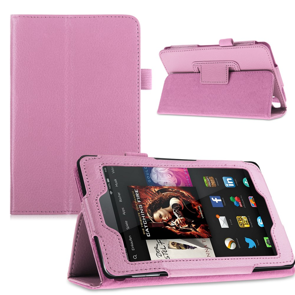 For 2014 amazon kindle fire hd 6 7 tablet pu leather folio for Amazon casa