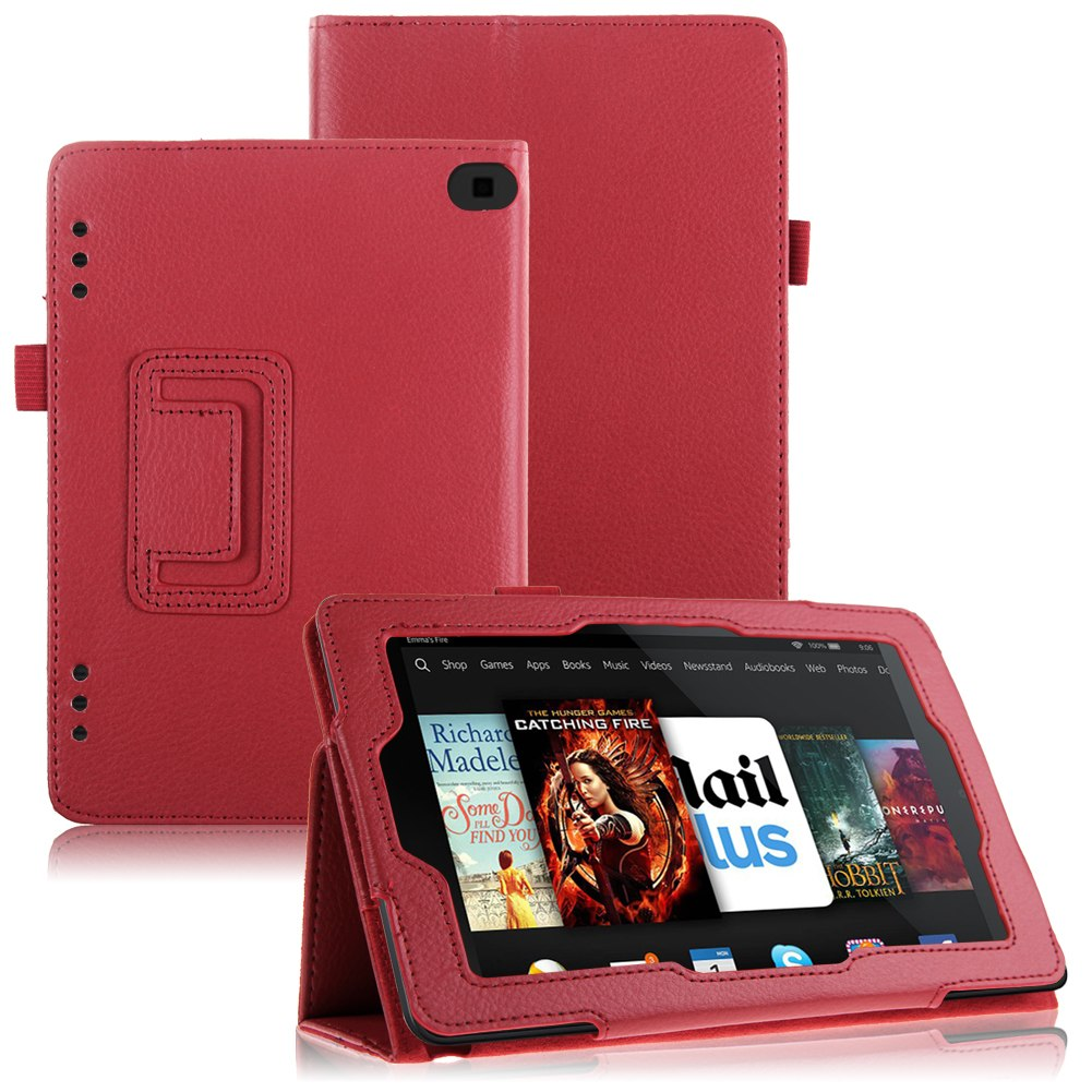 For 2014 amazon kindle fire hd 6 hd 7 tablet folio pu for Amazon casa
