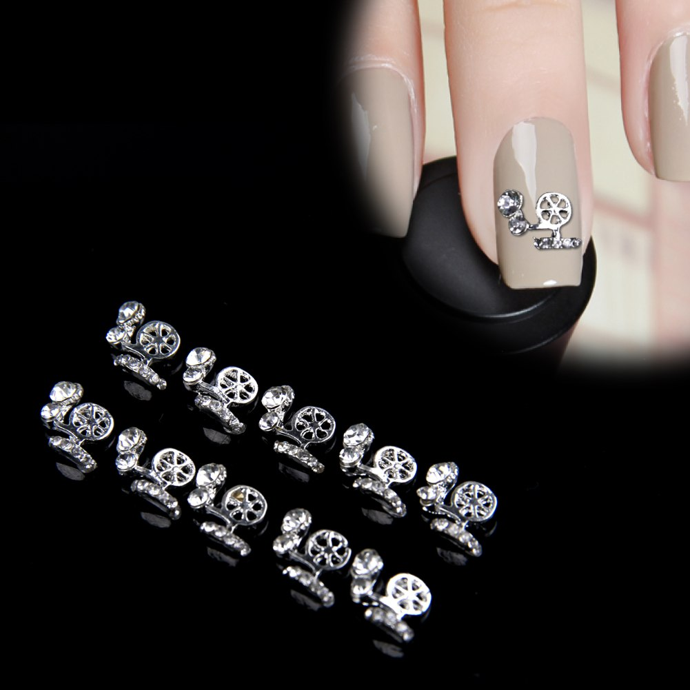 10 PCS 3D Alloy Rhinestones Diamond Glitters Nail Art ...