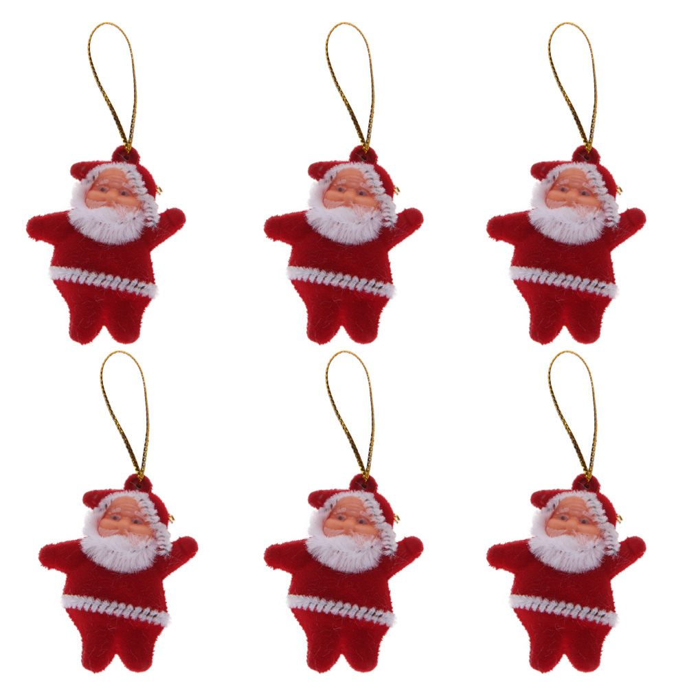 Santa Claus Decorations Uk: 6Pcs Santa Claus Home Xmas Christmas Tree Hanging