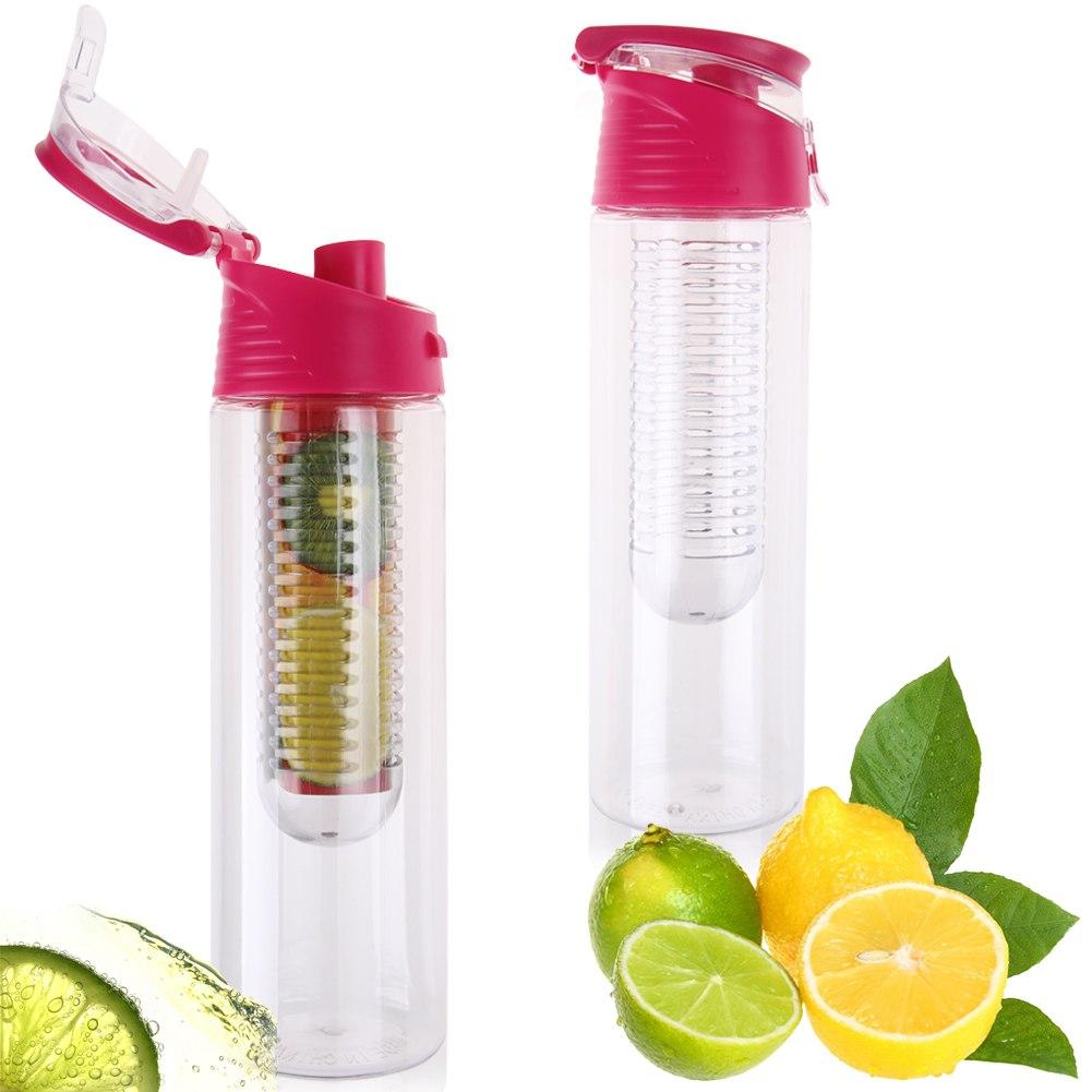 800ml Fruit Infuser Water Bottle Infusion BPA Free Detox Drink Juice Bottle Hot