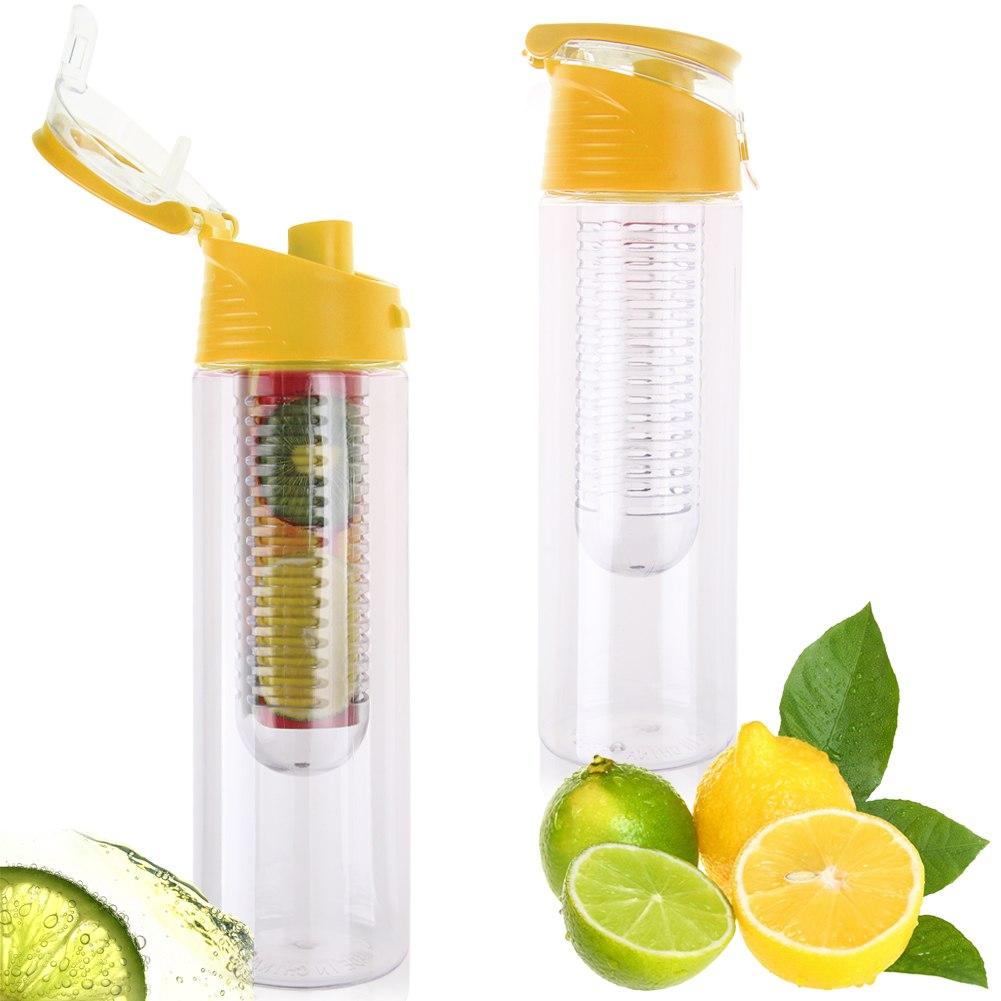 Fruit Infuser Water Bottle BPA Free Healthy Water Tea Sparkling Water ...