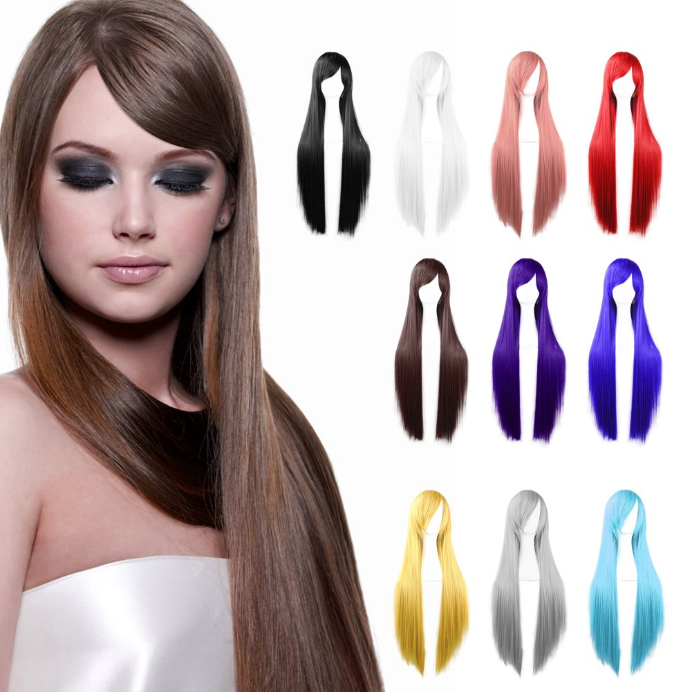 Womens Long Straight Cosplay Party Costume Halloween Full ...