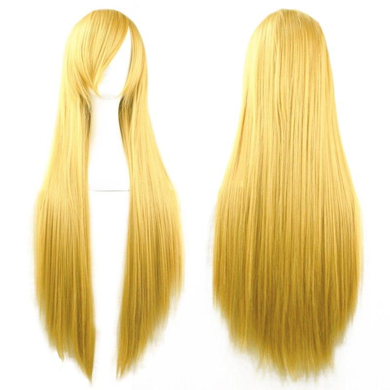Cosplay Perruque Cheveux Longue Droite Ondulé Bouclés Deguisement Wig Femmes