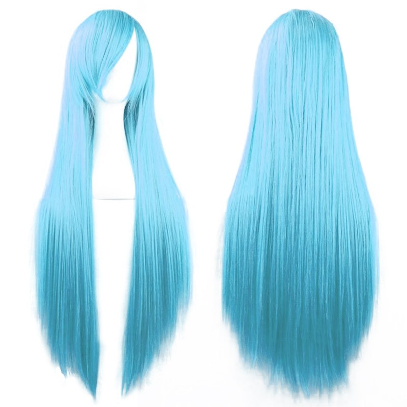 80cm Womens Long Straight Cosplay/Halloween Party Full Hair Wig Wigs Fashion HOT