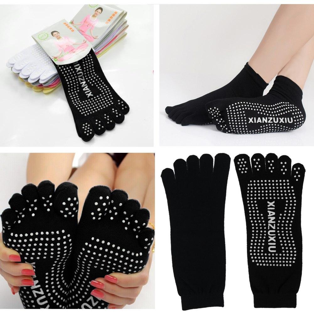 Yoga Socks Sport Fitness pilates Socks Fashion Five Toe No-Slip Massage Warm