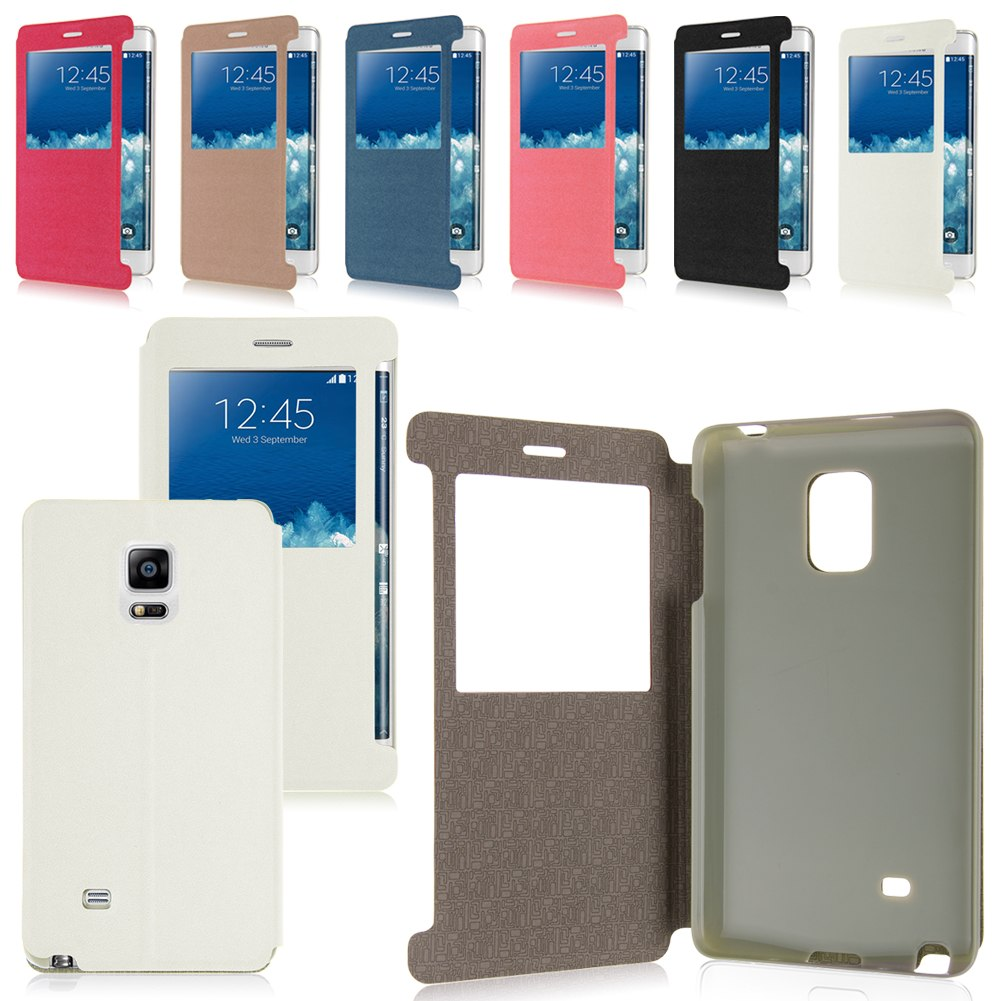 Samsung galaxy note edge case - For Samsung Galaxy Note 4 N910 Note Edge N915 Flip View Leather Case Cover Stand