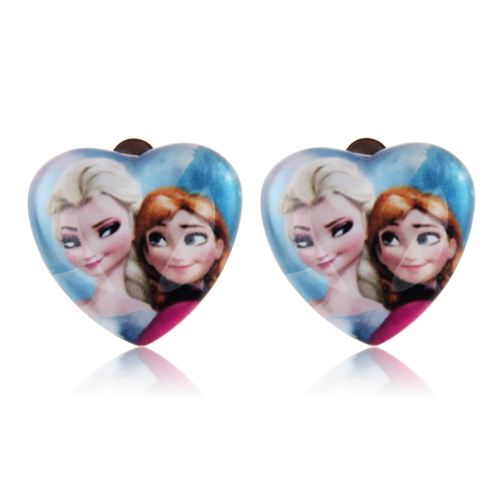 boucles d 39 oreilles clip pendentif coeur la reine des. Black Bedroom Furniture Sets. Home Design Ideas