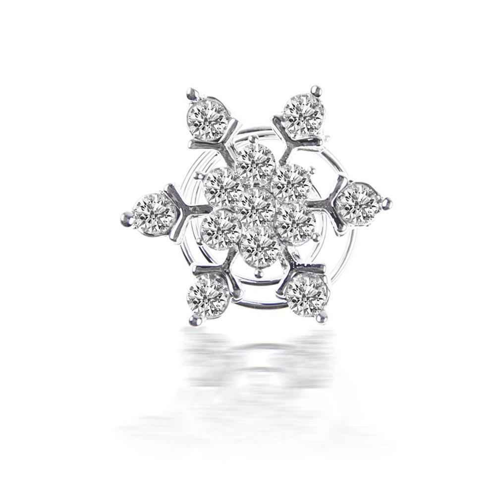Snowflake Flower Crystal Rhinestone Bridal Wedding Party Tiara Hair Pins Clips