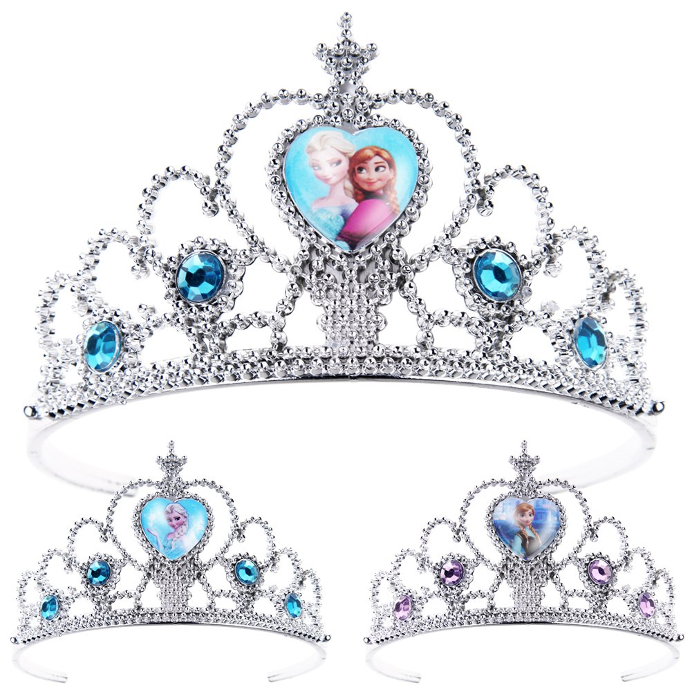 Girls Frozen Tiara Crown Princess Elsa Anna Costume Party ...