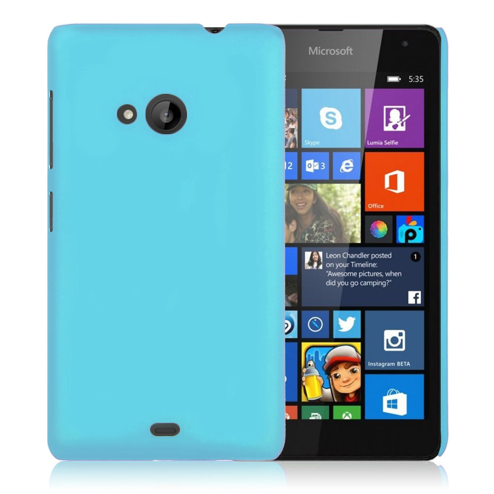 Hard Rubberized Matte Snap On Back Case Cover Skin For Microsoft Nokia Lumia 532