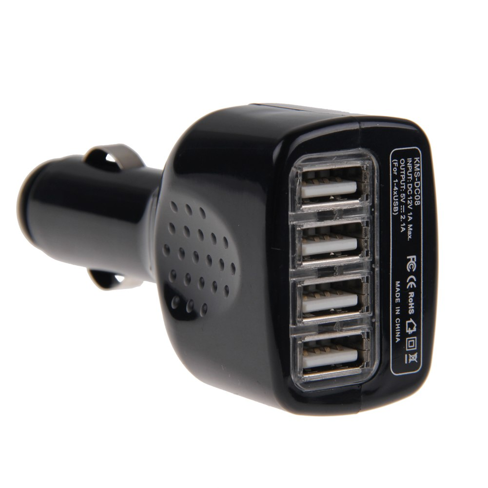 4 port usb car charger power adapter for iphone 5 6 samsung galaxy s6 note 5 4 3 ebay. Black Bedroom Furniture Sets. Home Design Ideas