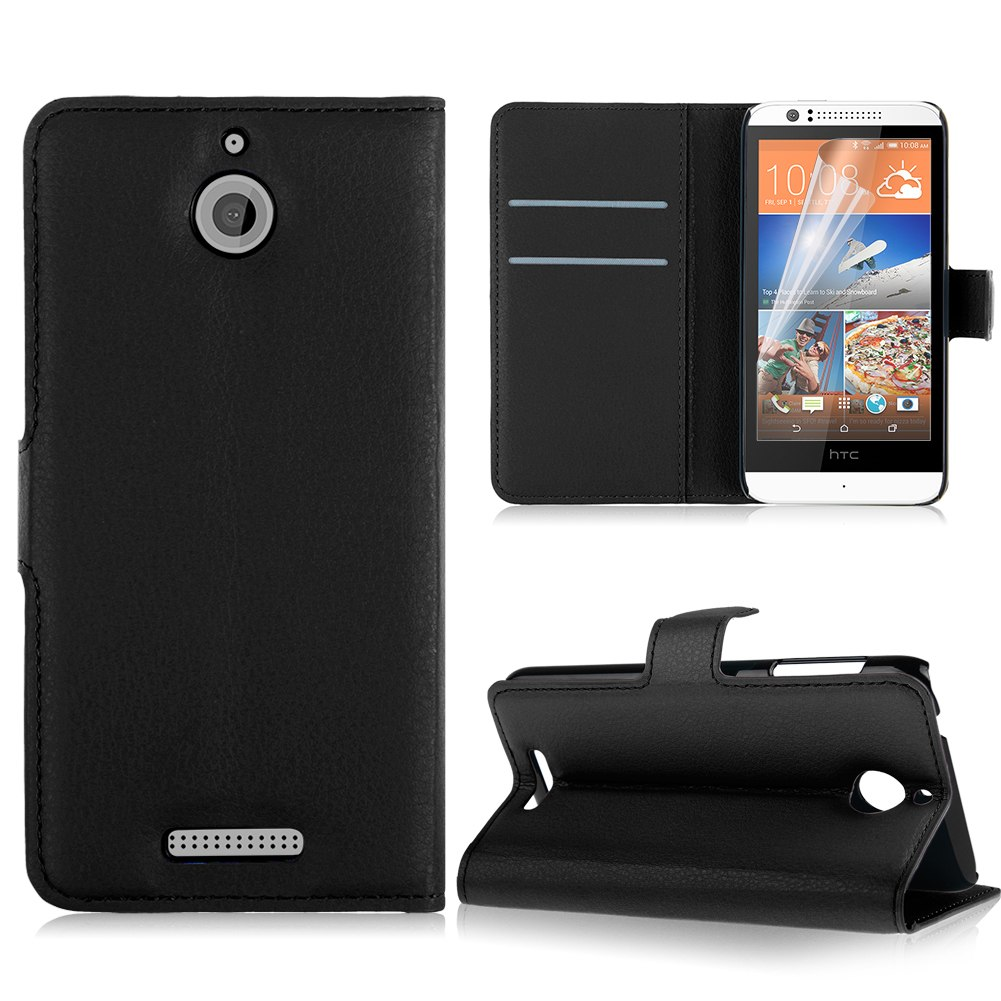 For HTC Desire 510 Flip Leather Case Wallet Stand Cover W/ Card Slot + FREE FILM
