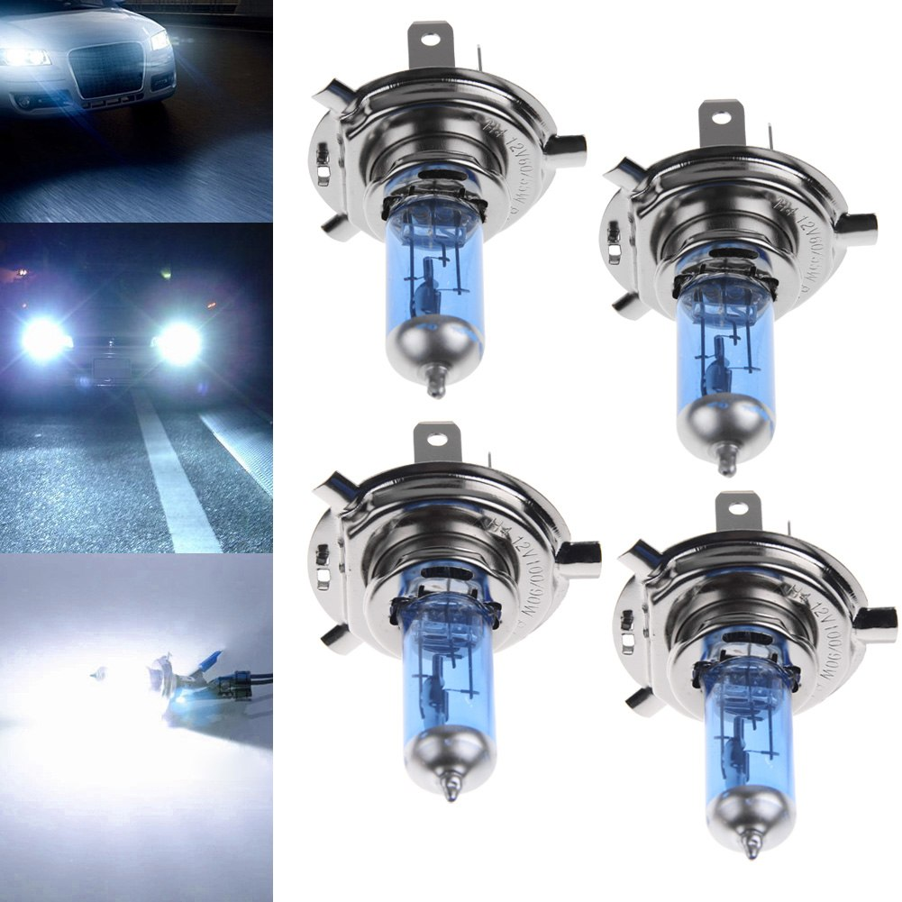 2x h1 h4 h7 55w 100w xenon gas halogen headlight white lamp bulb new 12v 5000k. Black Bedroom Furniture Sets. Home Design Ideas