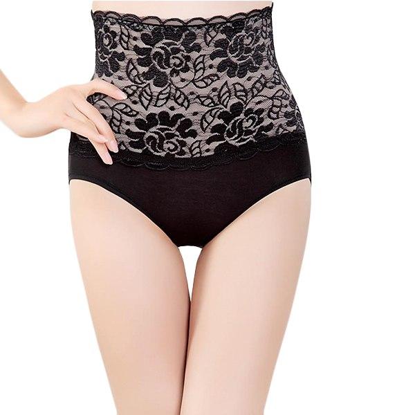 New Lady Women Sexy Lace High Waist Underwear Briefs Panties Lingerie Bodyshaper