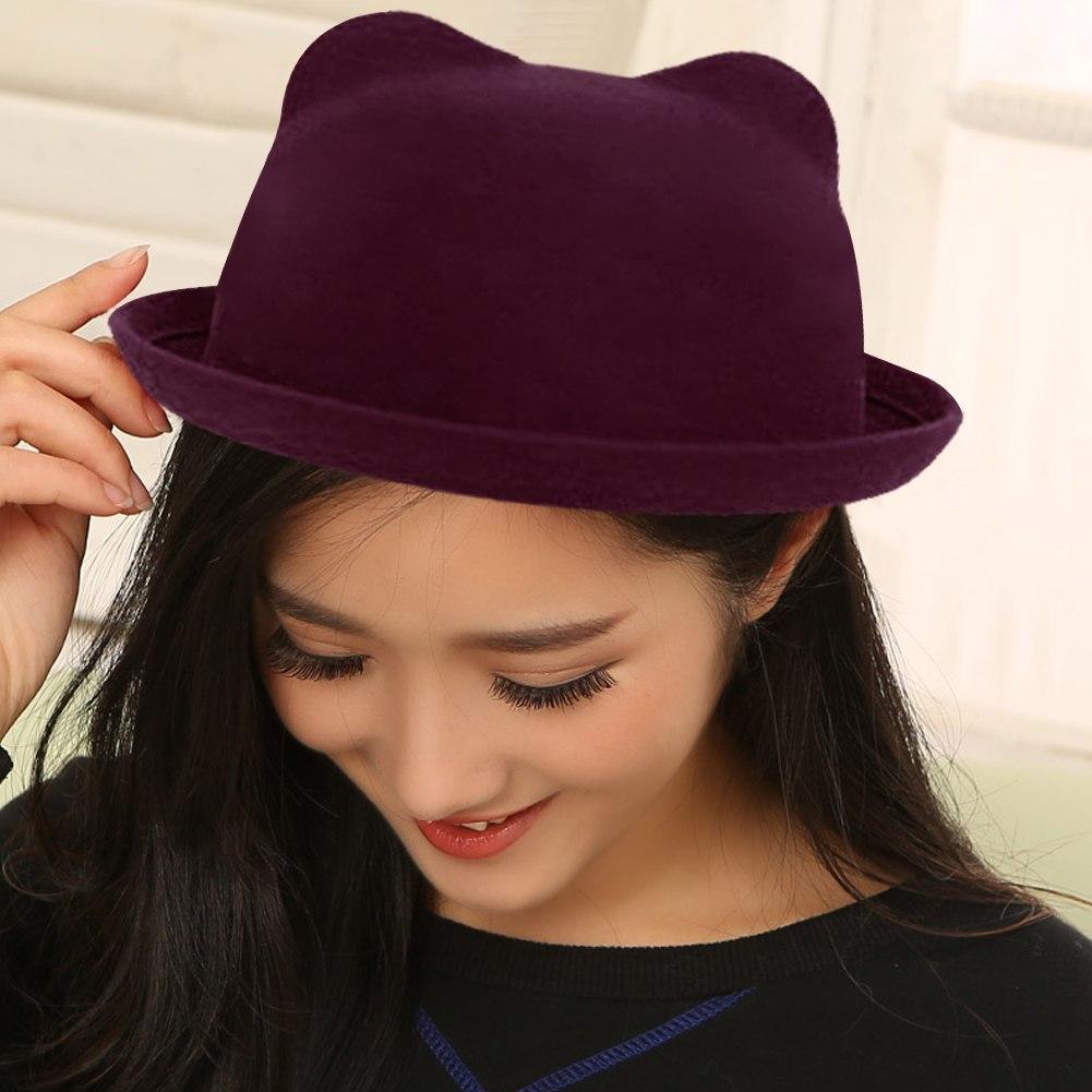 Vogue Lady Women Fashion Vintage Wool Cute Trendy Solid Bowler Derby Hat Cap #A