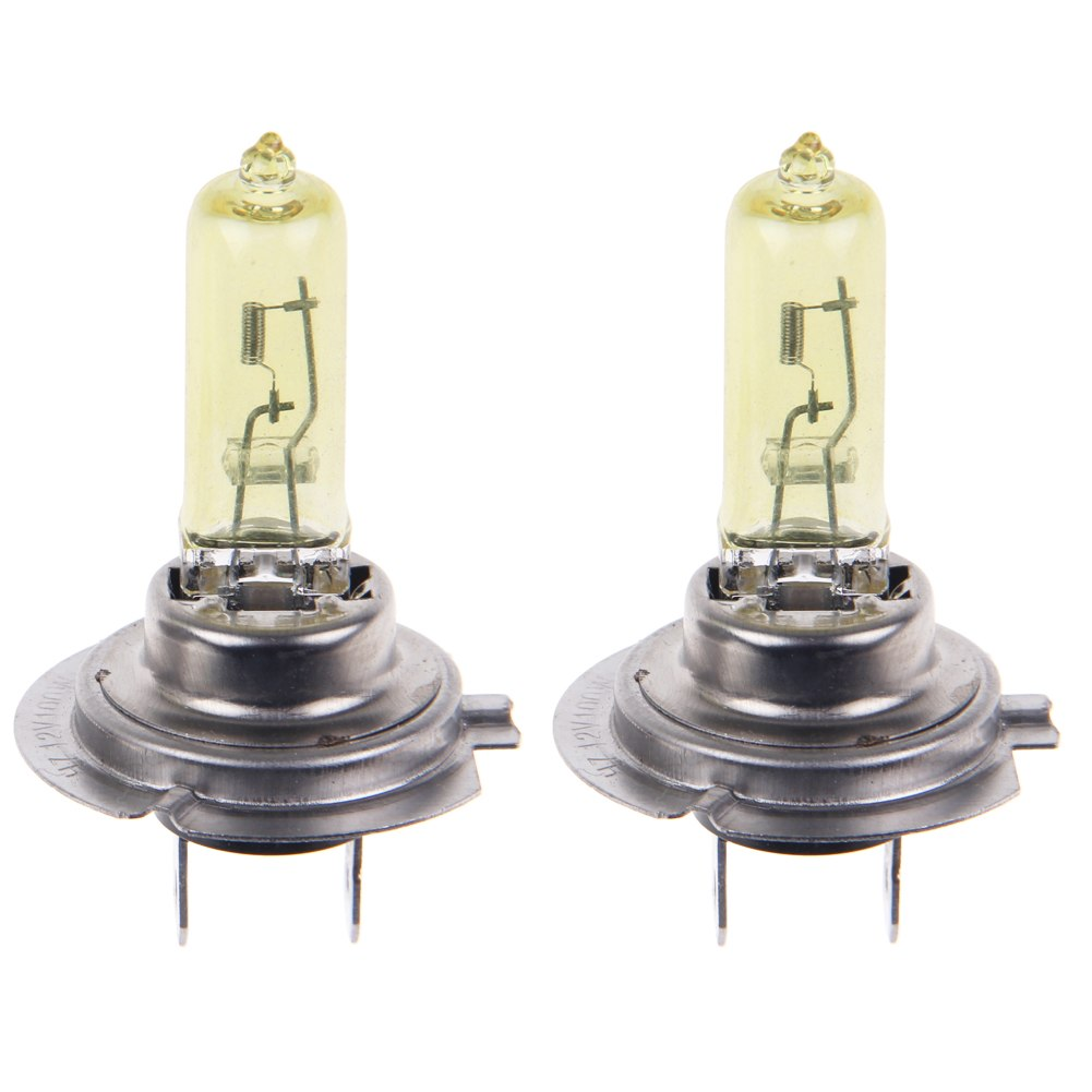 2x Car H7 Headlight Xenon Halogen Light Lamp Bulb 100w 12v Multicolor Yellow Ebay