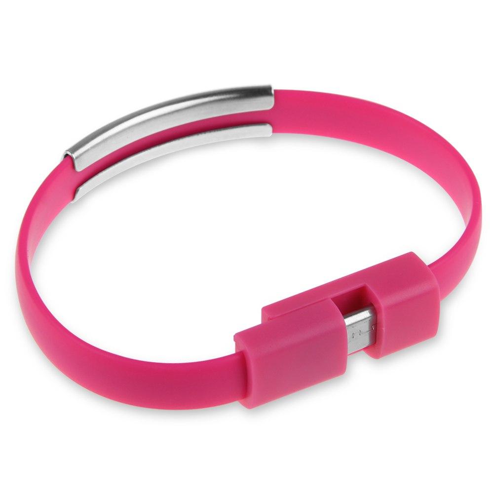 Wristband Bangle Silicone Bracelet Micro Usb Charger Data